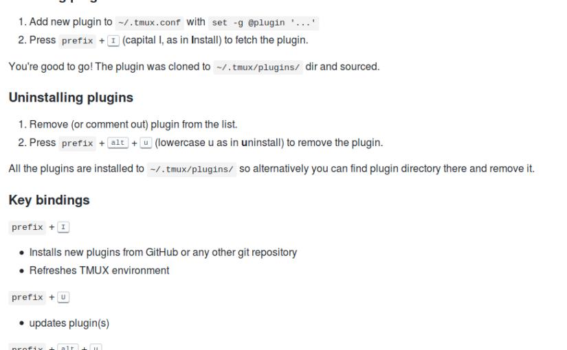 Configuring tmux (4) – plugins